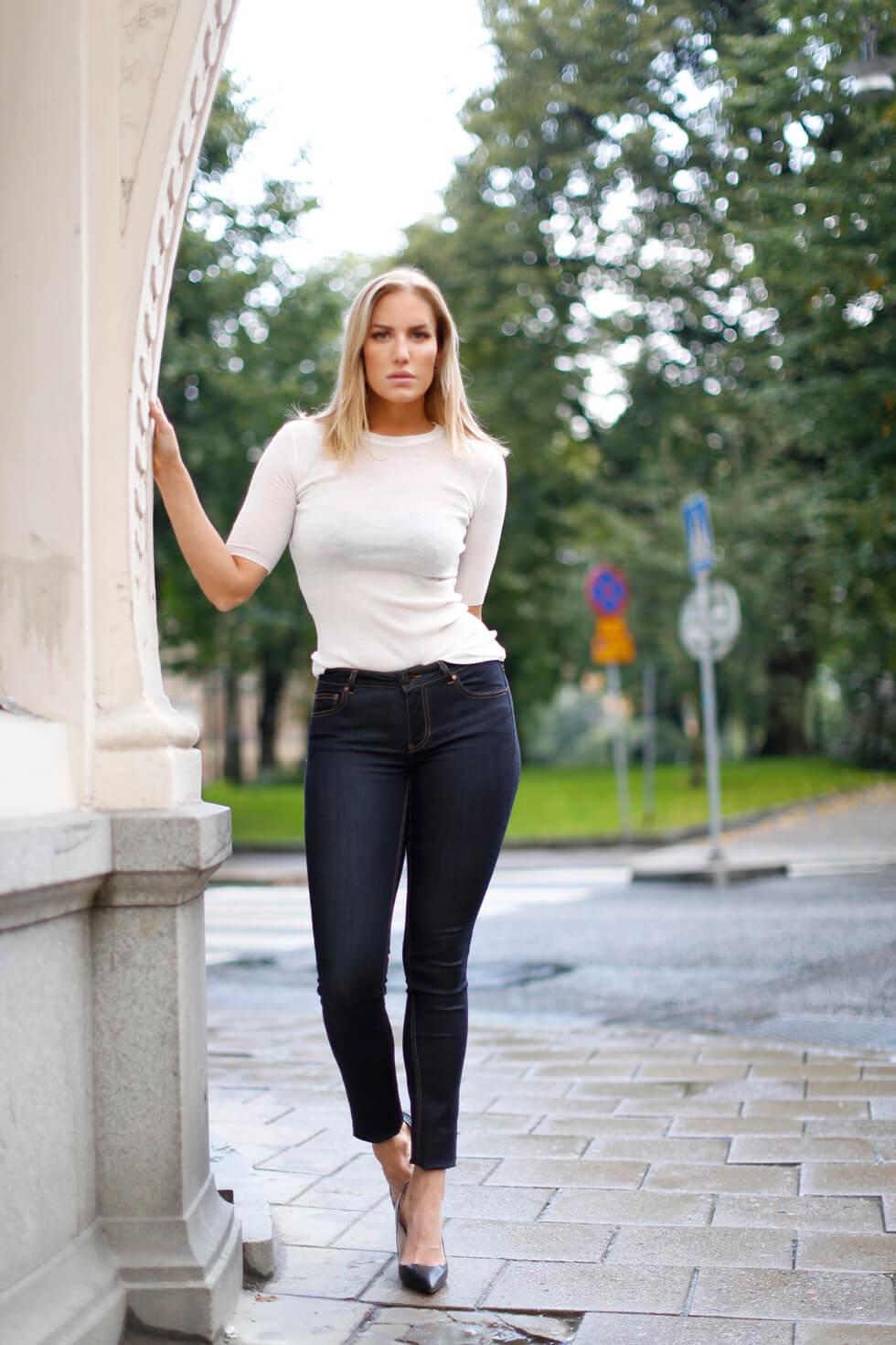 Jeans Stuprör