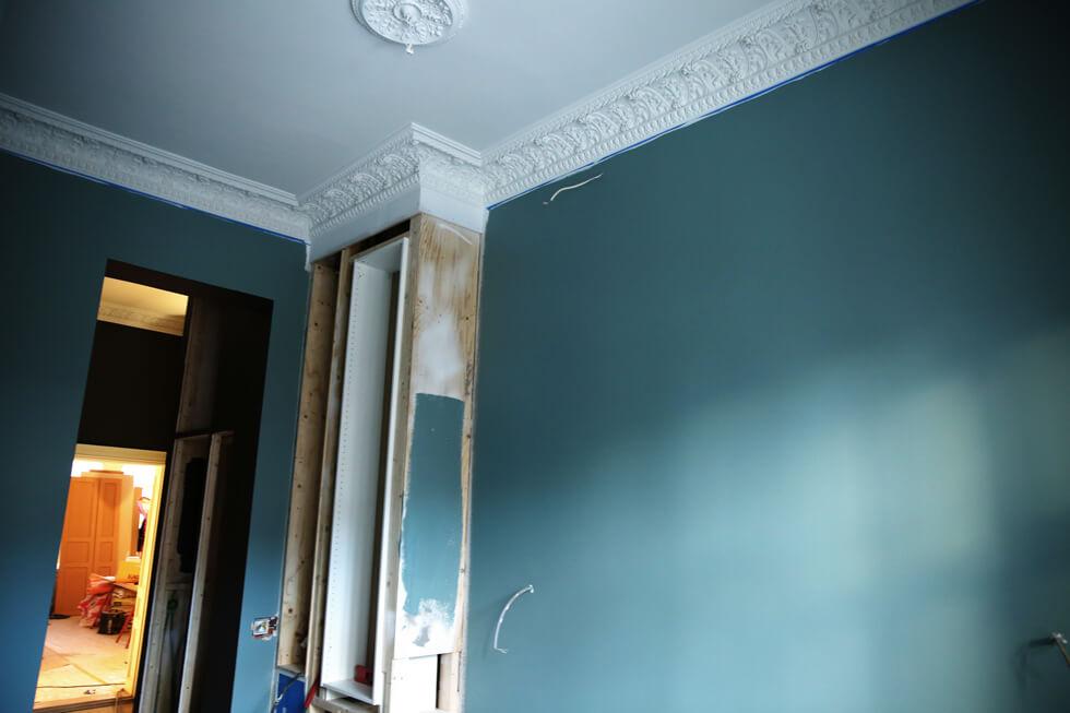 Blåa-väggar