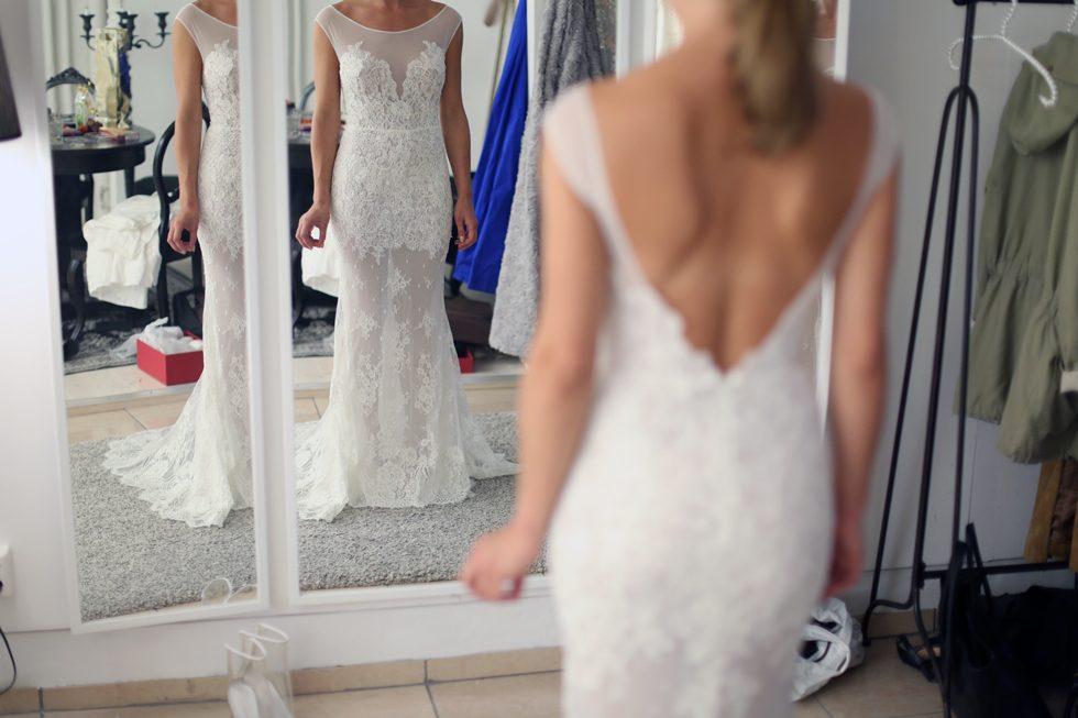 Bröllopsklänning-Uppsydd