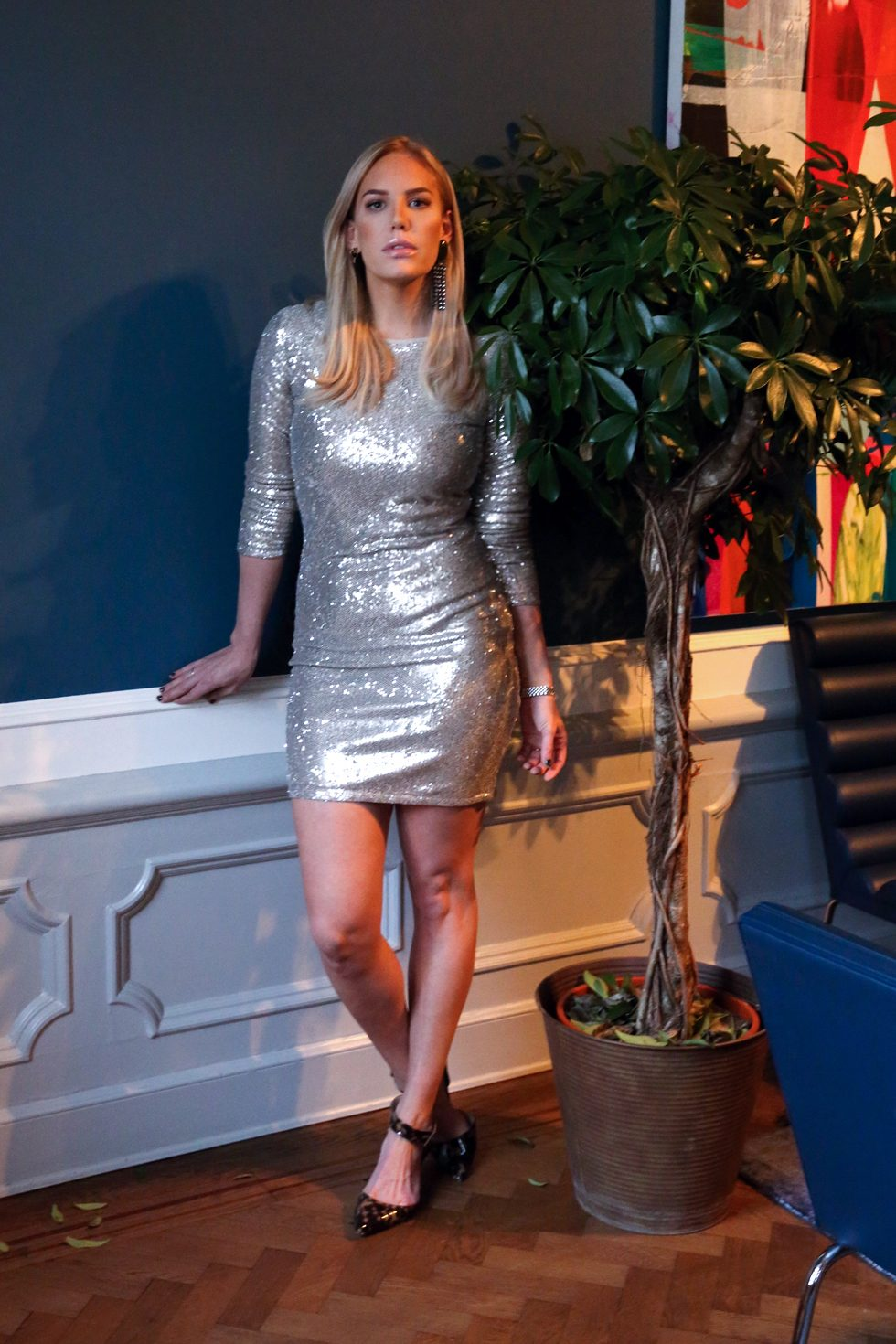Cubus-Glitterklänning-