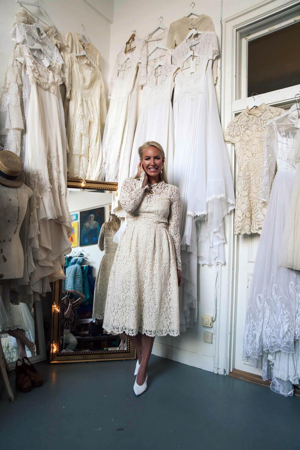 63600e571d67 Vintage bröllopsklänningar hos Elsa Billgren. - Petra Tungården