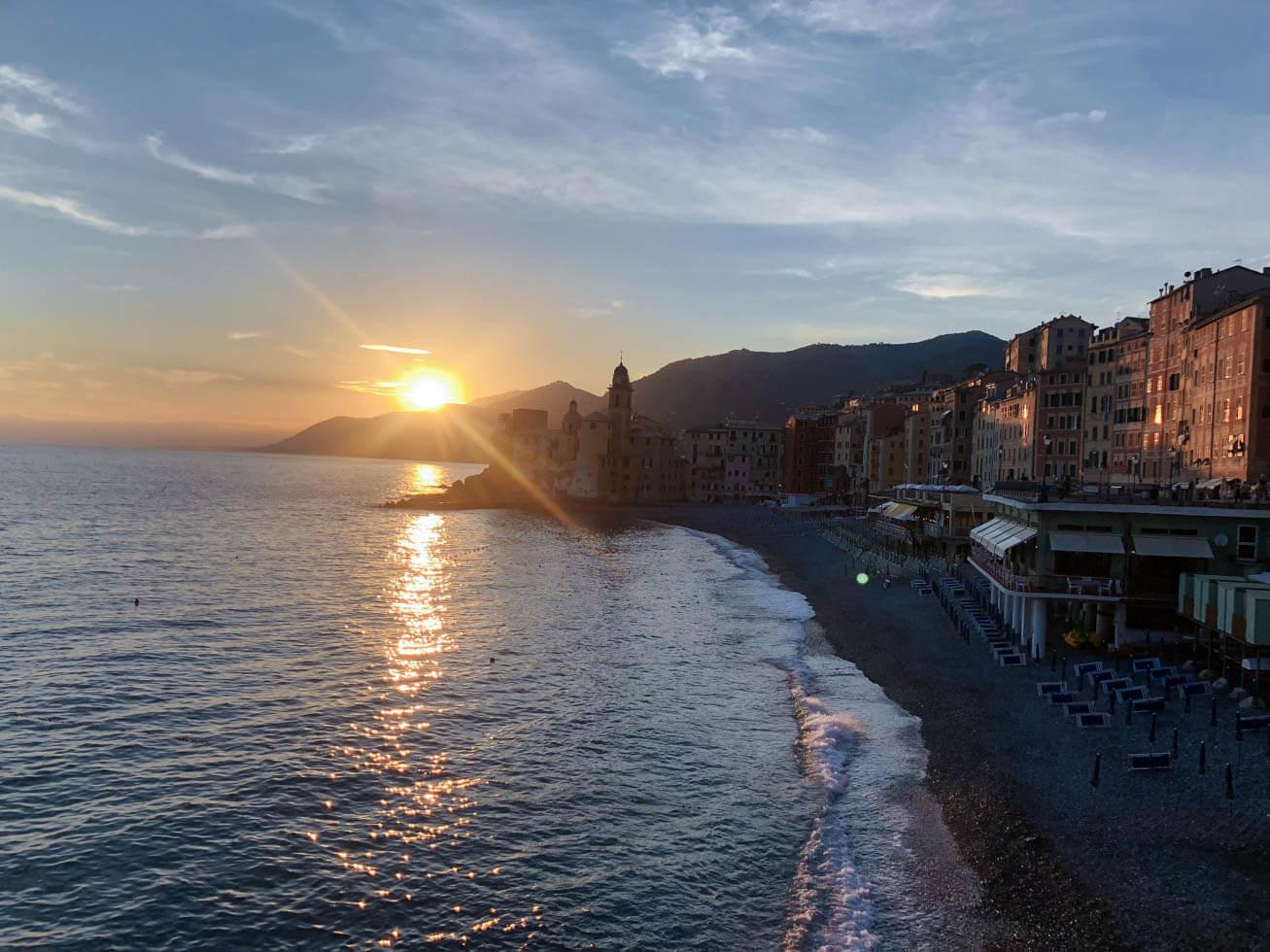 camogli sunset