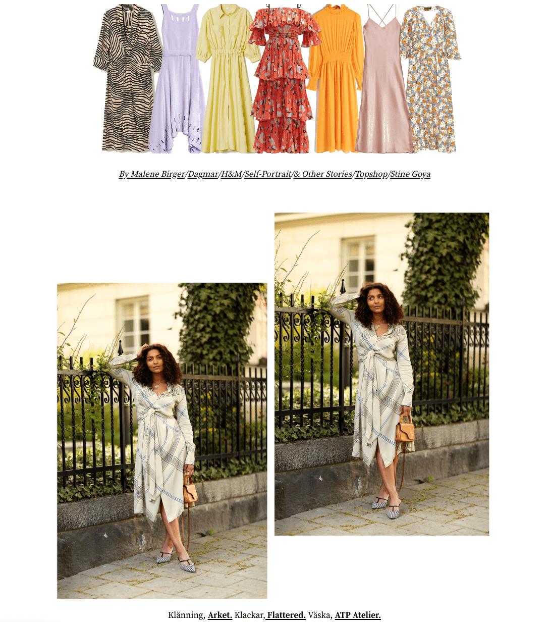 klänningar sommarfest