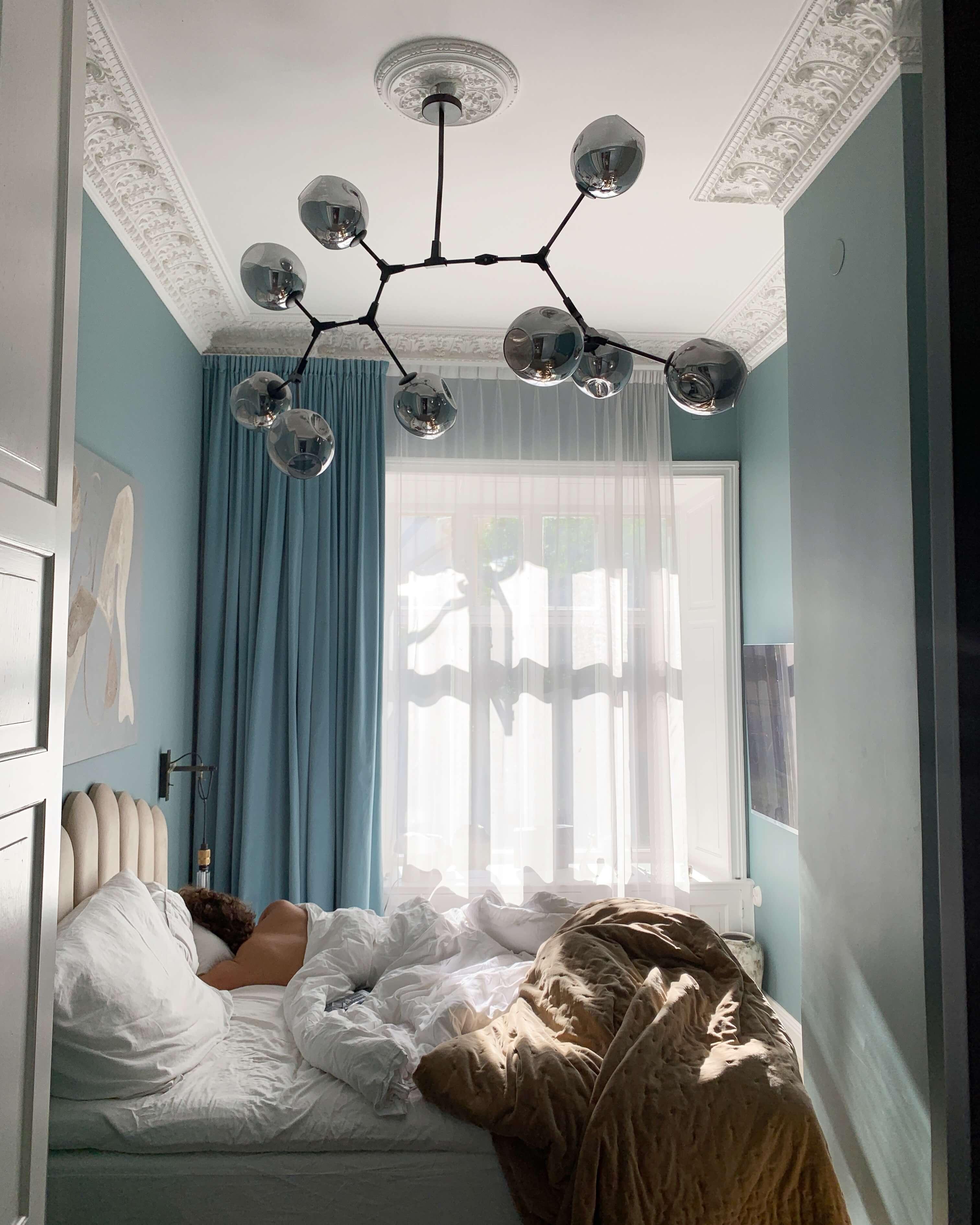 Sovrum inred som hotell